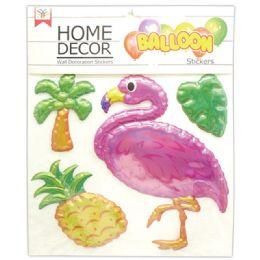 48 Units of Room Decoration Sticker Flamingo Pattern - Stickers