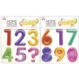 48 Units of Room Decoration Sticker 123 Pattern - Stickers