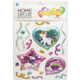 48 Units of Room Decoration Sticker Unicorn Pattern - Stickers