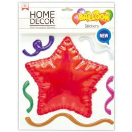 144 Units of Room Decoration Sticker Star Pattern In Red - Stickers