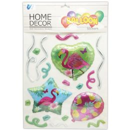 48 Units of Room Decoration Sticker Flamingo Pattern - Stickers