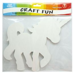 120 Units of Unicorn Paper Shapes - Craft Glue & Glitter