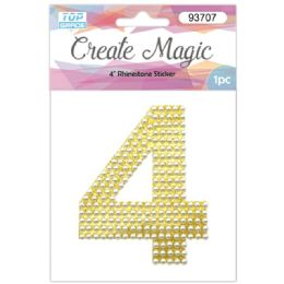 120 Units of Pearl Sticker In Gold Number 4 - Arts & Crafts