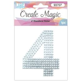 120 Units of Pearl Sticker In Silver Number 4 - Arts & Crafts
