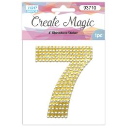 120 Units of Pearl Sticker In Gold Number 7 - Arts & Crafts