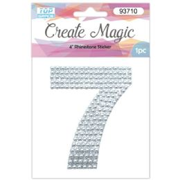 120 Units of Pearl Sticker In Silver Number 7 - Arts & Crafts