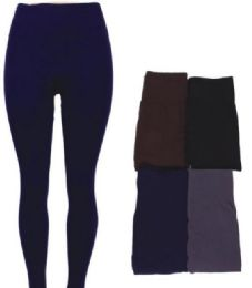 48 Units of Women's Fleece Lined Leggings In Assorted Colors - Womens Leggings