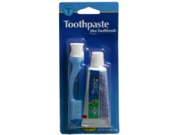 72 Units of Travel Toothbrush and .85 oz Crest Toothpaste Kit - Store