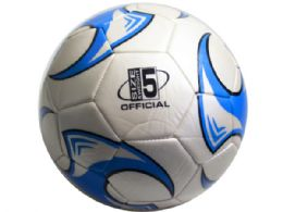 12 Units of size 5 soccer ball with blue wheel design - Balls