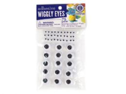 108 Units of 75 Pack Adhesive Wiggly Eyes - Store