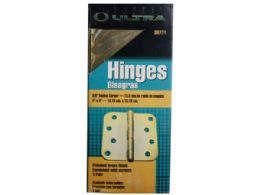 75 Units of 2.5mm brass door hinges in box - Store