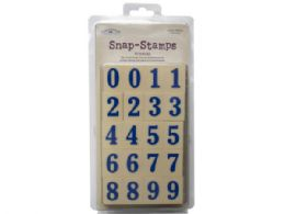 54 Units of snap-stamps set numbers formal 1in - Office Accessories