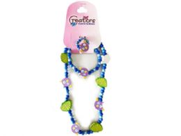 72 Units of creations 3 piece fish themed necklace bracelet and ring set - Necklace Sets