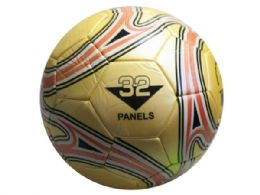 12 Units of size 5 gold soccer ball with swirl design - Balls