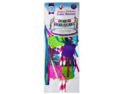 108 Units of happy birthday banner for girls - Party Banners