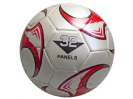 12 Units of size 5 soccer ball with red wheel design - Balls