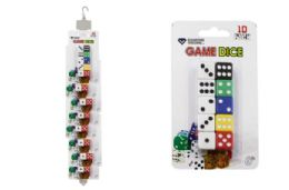 48 Units of DICE ON CLIP STRIP (10 PK) - Playing Cards, Dice & Poker