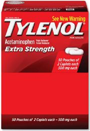 50 Units of Tylenol Extra Strength 2pk Box - Pain and Allergy Relief