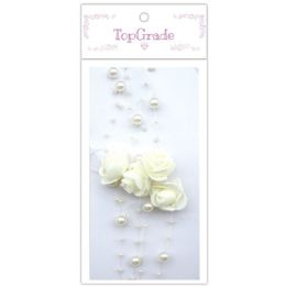 96 Units of Pear Garland In Beige - Craft Beads