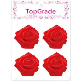 96 Units of Foam Rose In Red - Craft Beads