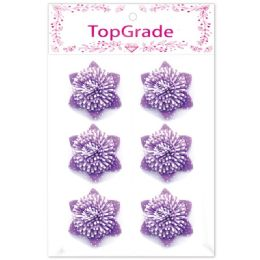 96 Units of Decoration Foam Flower In Purple - Arts & Crafts