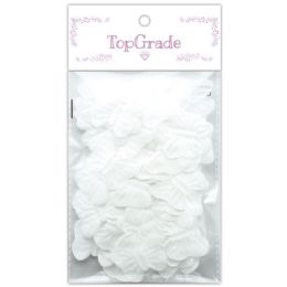 96 Units of Butterfly Petal In White - Arts & Crafts