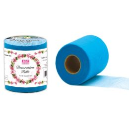 96 Units of Decoration Tulle In Blue - Sewing Supplies