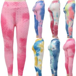 48 Units of Women Ruched Scrunch Butt Tie Dye Leggings - Womens Leggings