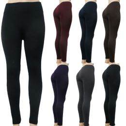 48 Units of Women's Fleece leggings One Size Fits Most - Womens Leggings