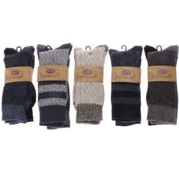 60 Units of Men's Two Pair Pack 20% Wool Boot Sock - Mens Thermal Sock