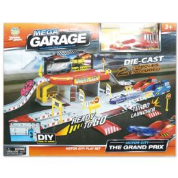 18 Units of Racing Parking Set - Cars, Planes, Trains & Bikes