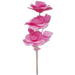 24 Units of Foam Flower In Pink - Artificial Flowers