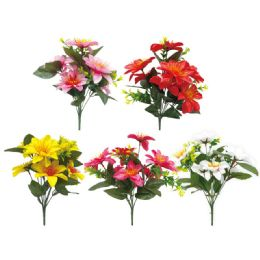 144 Units of 7 Head Flower Assorted - Artificial Flowers