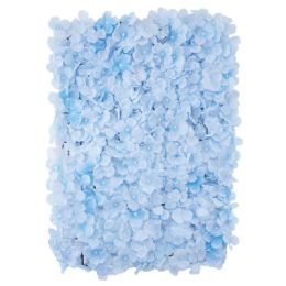 12 Units of Flower Wall Decoration Hydrangea In Light Blue - Artificial Flowers