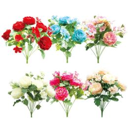12 Units of 12 Head Flower Assorted - Artificial Flowers