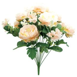 12 Units of 12 Head Flower In Peach - Artificial Flowers
