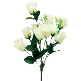 144 Units of 10 Head Rose Ivory - Artificial Flowers