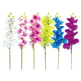 24 Units of Orchid In Assorted Colors - Artificial Flowers