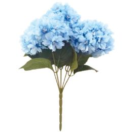 24 Units of 5 Head Flower In Blue - Artificial Flowers