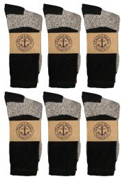 600 Units of Yacht & Smith Womens Cotton Thermal Crew Socks, Cold Weather Boot Sock, Size 9-11 - Womens Thermal Socks