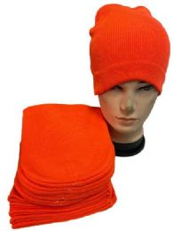 36 Units of Orange Color Winter Beanie - Winter Hats