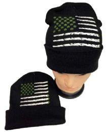 36 Units of Marijuana Flag Winter Beanie Hat - Winter Beanie Hats