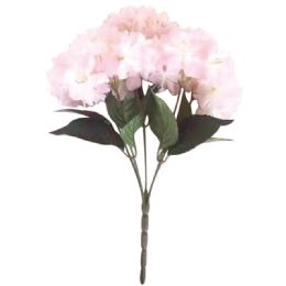 24 Units of 5 Head Flower In Pink - Artificial Flowers