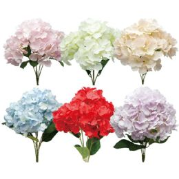 24 Units of Assorted Hydrangea Bouquet - Artificial Flowers