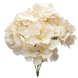 24 Units of Hydrangea Bouquet In Peach - Artificial Flowers