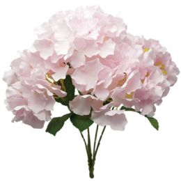 24 Units of Hydrangea Bouquet In Pink - Artificial Flowers