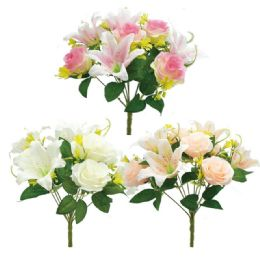 24 Units of Roses In Mixed Color - Artificial Flowers