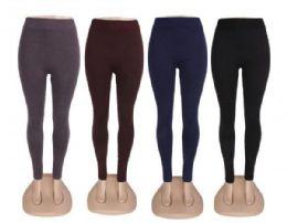 96 Units of Ankle Length High Waist Power Flex Leggings In Black One Size - Womens Leggings