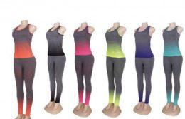 60 Units of Womens 2 Piece Tye Dye Workout Set - Workout Gear