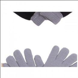 120 Units of Gloves Warm Knitted Magic Full Fingers Gloves - Kids Winter Gloves